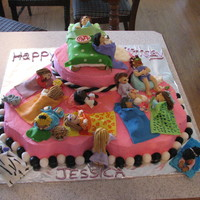 My Daughter's Sleepover Birthday Cake This is a birthday cake for my daughter. She had a sleepover for 13 girls. I made each girl that came to the party. It was a big hit! This...