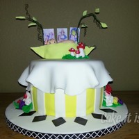 Baby In Pea Pod Shower Cake