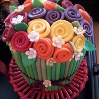 Ribbon Rose Cake In Vibrant Fall Colors Birthday Cake For My Aunt Mely Who Turned 65 Recently Ribbon rose cake in vibrant fall colors. Birthday cake for my Aunt Mely who turned 65 recently.