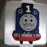 Thomas The Tank Engine. This is a first birthday cake for a friend.