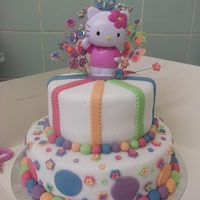 Hello Kitty Birthday Cake. This is a hello kitty cake. I have done better iceing before but did rush it abit.Please comment and let e know what you think.