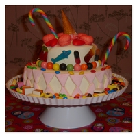 Hysterical Candy Cake marzipan added with candy