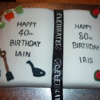 Open Book   joint birthday cake.