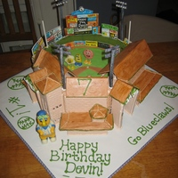 Lakewood Blueclaws Baseball Stadium Cake  Happy 7th Birthday Devin!!!! Finally got this really tough cake done - my son is having a 7th birthday party at Blueclaws Stadium in...