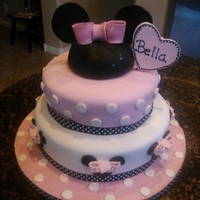Minnie Mouse Minnie Mouse 3 tier cake