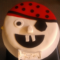 Pirate Cake Pirate cake with happy birthday map on the front