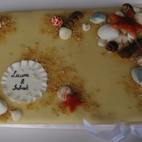 Wedding Cake With Sea Shells
