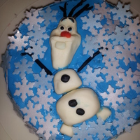 Olaf! This was a tiny cake made for my daughter on her birth-day. She had a nice big one for her party and this was just a little something on...