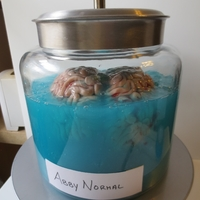 Young Frankenstein Abby Normal Brain Dessert Since I made my dad a Young Frankenstein Igor cake I decided to make Abby Normal to go along with it. This jar is pretty huge: a gallon and...