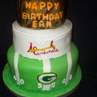 Favorite Things Birthday Cake These are a few of the birthday boy's favorite things packers, cardinals, and hunting.