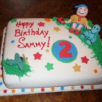 Caillou Birthday Cake This was the first time I have ever used fondant and gum paste. This was for my son's second birthday this week! This is Caillou and...
