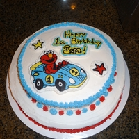 Elmo Birthday Cake My son's first birthday cake.. Elmo is a FBCT.