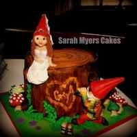 For My Gnomies *groom's cake. All hand sculpted and edible materials.