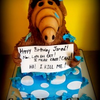 Alf Crashes The Party Hand Sculpted Alf Cake ALF crashes the party! Hand sculpted Alf Cake.