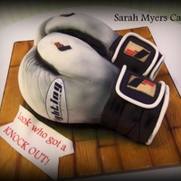 Sculpted Boxing Glove Grooms Cake sculpted boxing glove groom's cake