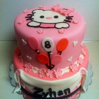 Pretty Pink Hello Kitty Cake Did this cake to match a party invitation for a friends daughter. I just love Hello Kitty!