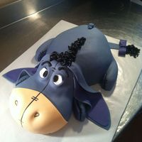 Eeyore Cake Eeyore cake I did for one of my managers, My first big carved cake! I was so terribly nervous but it turned out so cute! I didn't want...