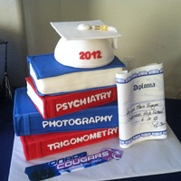 Graduation Books, Cap And Diploma