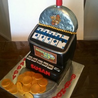 Deuces Wild Video Poker Machine Cake Stacked and carved cake I did for a Deuces wild fanatic!