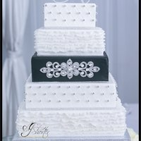 Blinged Out Wedding Cake Blinged out wedding cake
