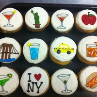 New York/cocktail Themed Cupcakes