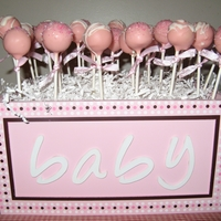 Baby Girl Shower Cake Pops Vanilla and lemon cake pops in pink for a baby shower.