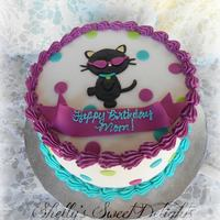 Cool Cat *Buttercream with fondant accents