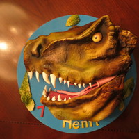 T-Rex vanilla cake with ganache and RK !