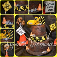 Road Work! A cake made for a friend's son. He loves everything construction (especially the machines)! All edible except for the bulldozer which...