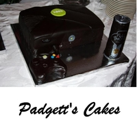 Xbox Lemon cake with buttercream fondant. Remote and can of Full Throttle are both made out of fondant.