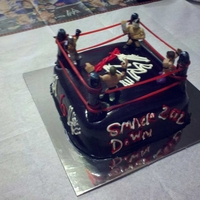 Wwe Cake Made this for my son's 6th Birhtday. He met Rick Flare right before his birthday and he decided he wanted a wrestling theme