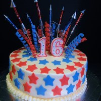 Patriotic Birthday Cake