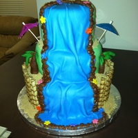 Waterfall Cake a girl i know from school asked me to mke this for her. she supplied the idea and i just brought it to life. Thank you to all of the...