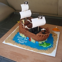 Pirate Ship used debbie brown's book as a guide, but made some changes.also, hubby made a template for all of the pieces to be cut, so i didnt...