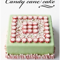Candy Cane Cake I wanted to use up all the candy canes and peppermint candies that I had lying around. So, i made this simple square shaped chocolate oreo...