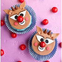 Rudolph Cupcakes Rudolph, the red nosed reindeer cupcakes made from marshmallow fondant.