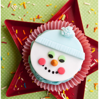 Snowman Cupcakes Cute snowman cupcakes made with fondant and basic tools and cutters.
