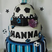 Soccer Birthday Girl Made for a girl who loves blue and soccer.