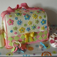 Pink Diaper Bag Cake   Thanks to Helipops for her tutorial :)
