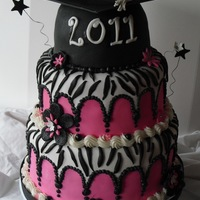 Pink Zebra Graduation Thanks again to Soonergirl1968 and cakeandpartygirl for the inspiration.