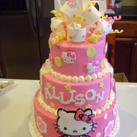 Hello Kitty For Allison! covered in bc with mmf detail and gumpaste bow