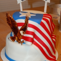 American Flag This cake is for the Osyka Veterans Park. It is a place of rememberance for deceased soldiers from my mom's home town of Osyka,...