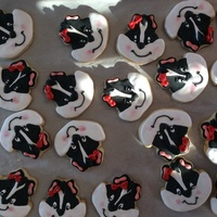 Skunk Cookies! Another cookie design from Sweet Sugarbelle. Mine are not as good as her but still cute as ever!