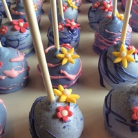 Cake Pops For A Tangled Themed Birthday Party Cake pops for a Tangled themed birthday party.