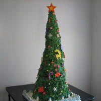 3 Foot Rice-Crispy Treat Tree Annually I enter the Gingerbread Competition at the Festival of Trees, which the proceeds go towards the United Way. In 2010 I created a 3...