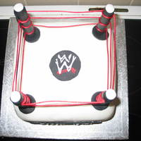 Wrestling Cake (My 3Rd Cake)  This was done for my nephews 12 birthday. It took longer than expected, but think that was because I was trying to rush and so things kept...