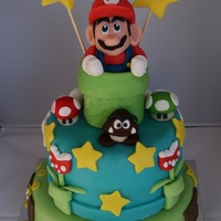 Super Mario 2 Layer Birthday Cake A super Mario 2 layer birthday cake for Daniel 7th birthday