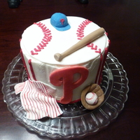 Philadelphia Phillies Sister's friend at work is a HUGE Phillies fan. my sis wanted to surprise her with a cake. Viola! Phillies cake! Iced in butter cream...