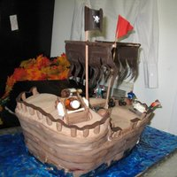 Captain Morgan Ship   Groom's cake with favorite Rum as the theme