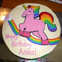 Rainbow Unicorn Cake A rainbow unicorn cake. The cake is rainbow inside. I used strawberry cake mix and ginger ale for the red based colors, red, orange and...